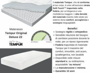 Materasso Tempur Original Deluxe 22